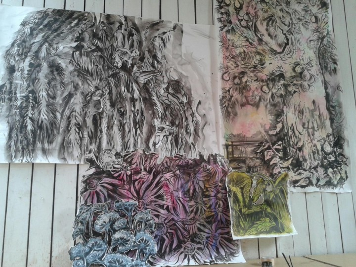 Nature paintings from Vincent's birthplace by Charlotte Mouwens